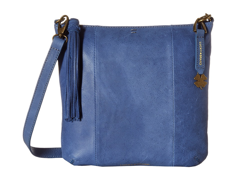 Lucky Brand - April Crossbody (Blue Denim) Cross Body Handbags