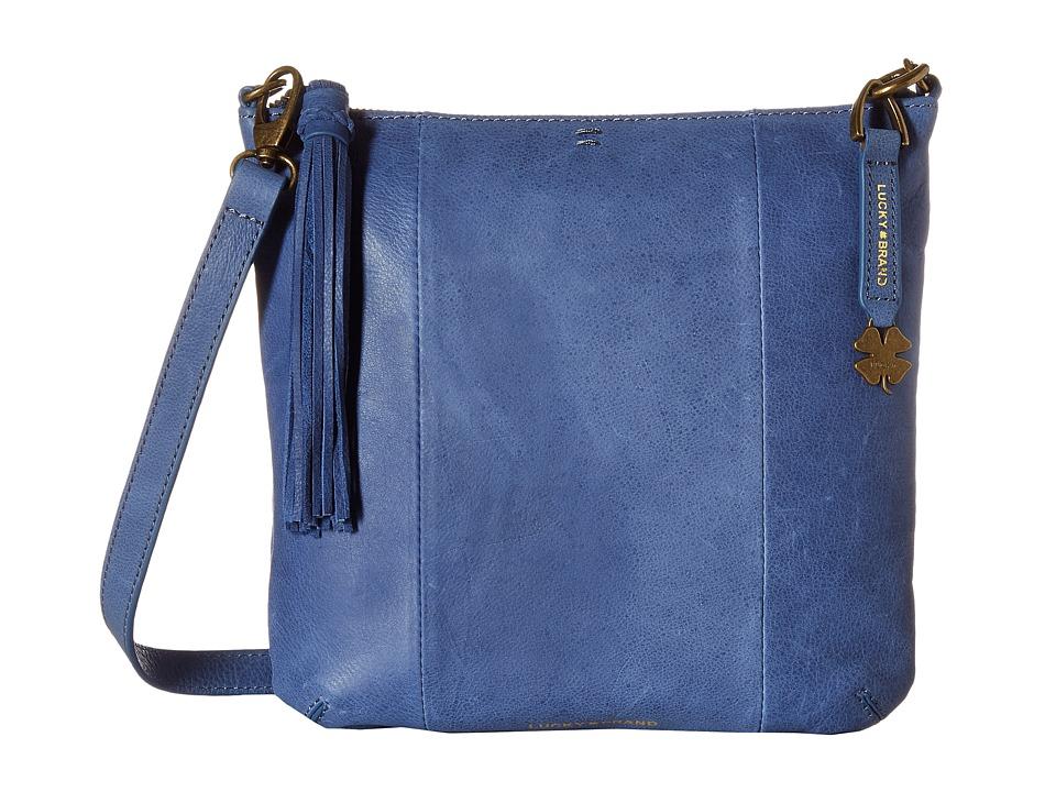 Lucky Brand - April Crossbody (Blue Denim) Cross Body Handbags