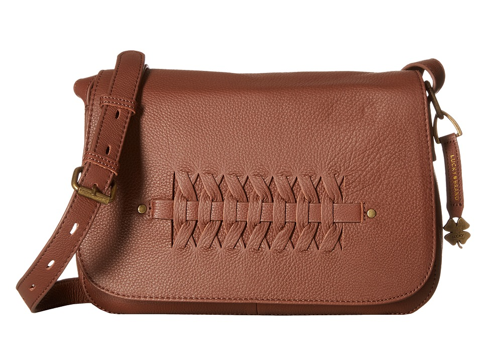 Lucky Brand - Kingston Flap Crossbody (Brandy) Cross Body Handbags