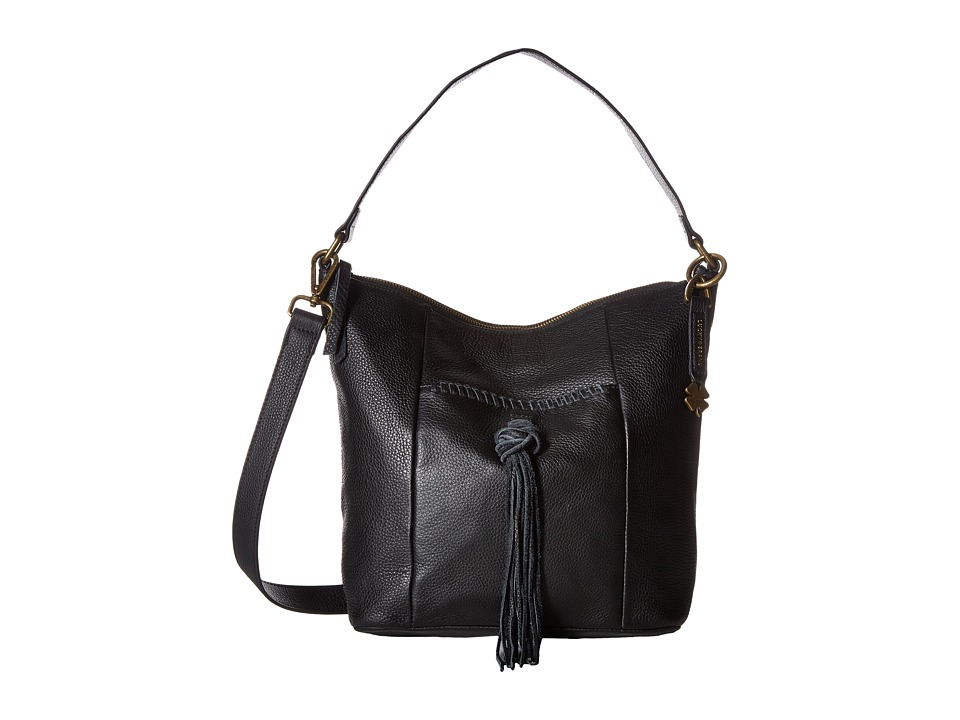 Lucky Brand - Carmen Top Zip Bucket Crossbody (Black) Cross Body Handbags