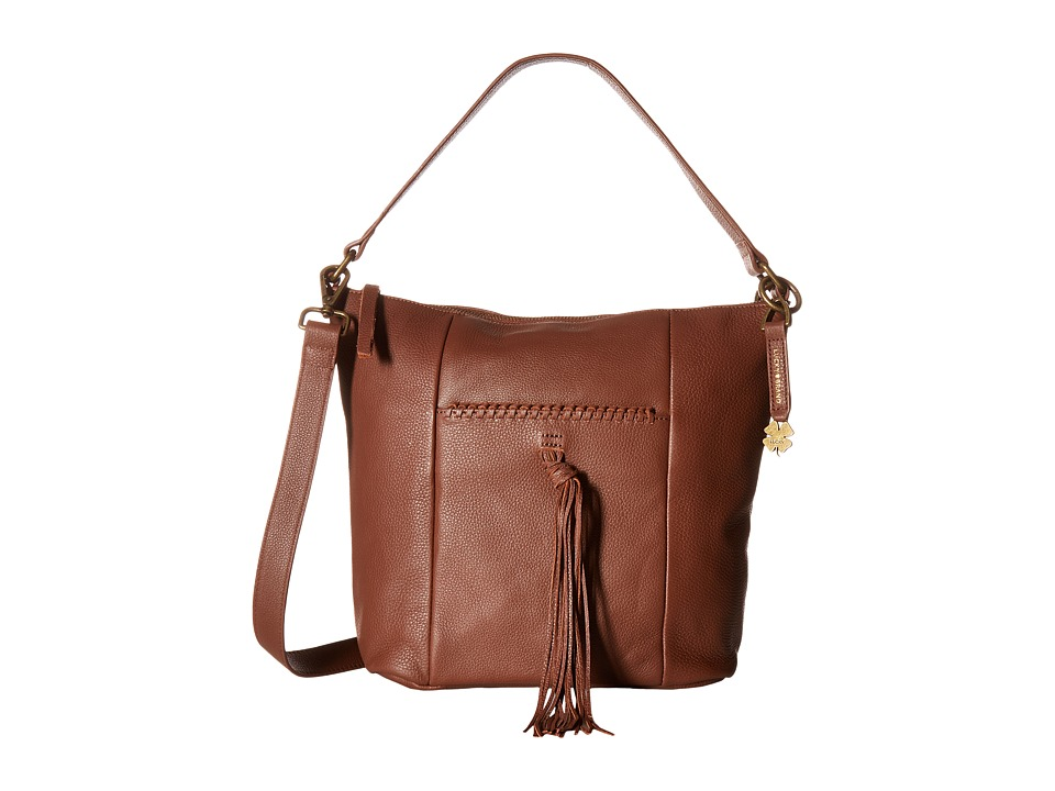Lucky Brand - Carmen Top Zip Bucket Crossbody (Brandy) Cross Body Handbags