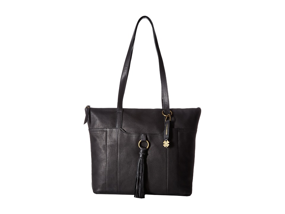 Lucky Brand - April Top Zip Tote (Black) Tote Handbags
