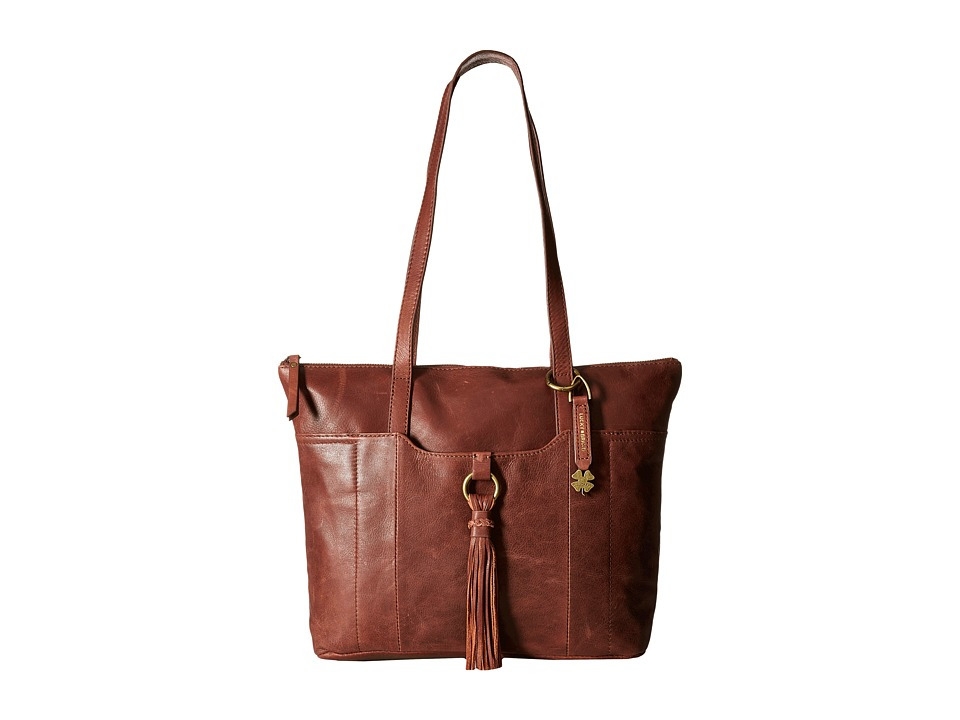 Lucky Brand - April Top Zip Tote (Brandy) Tote Handbags
