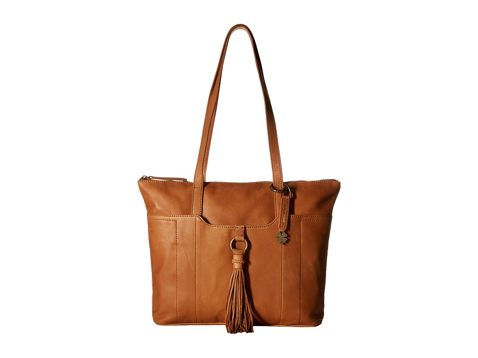 Lucky Brand - April Top Zip Tote (Tobacco) Tote Handbags