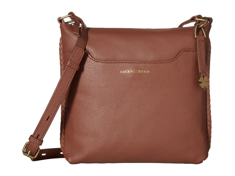 Lucky Brand - Ali Top Zip Crossbody (Brandy) Cross Body Handbags
