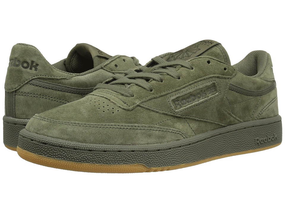 Reebok Lifestyle - Club C 85 TG (Hunter Green/Poplar Green/Gum) Men's Shoes