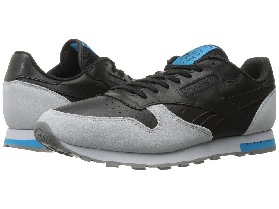 Reebok - Classic Leather (Black/Cloud Grey/Alloy/Carribean Sail) Men's Classic Shoes