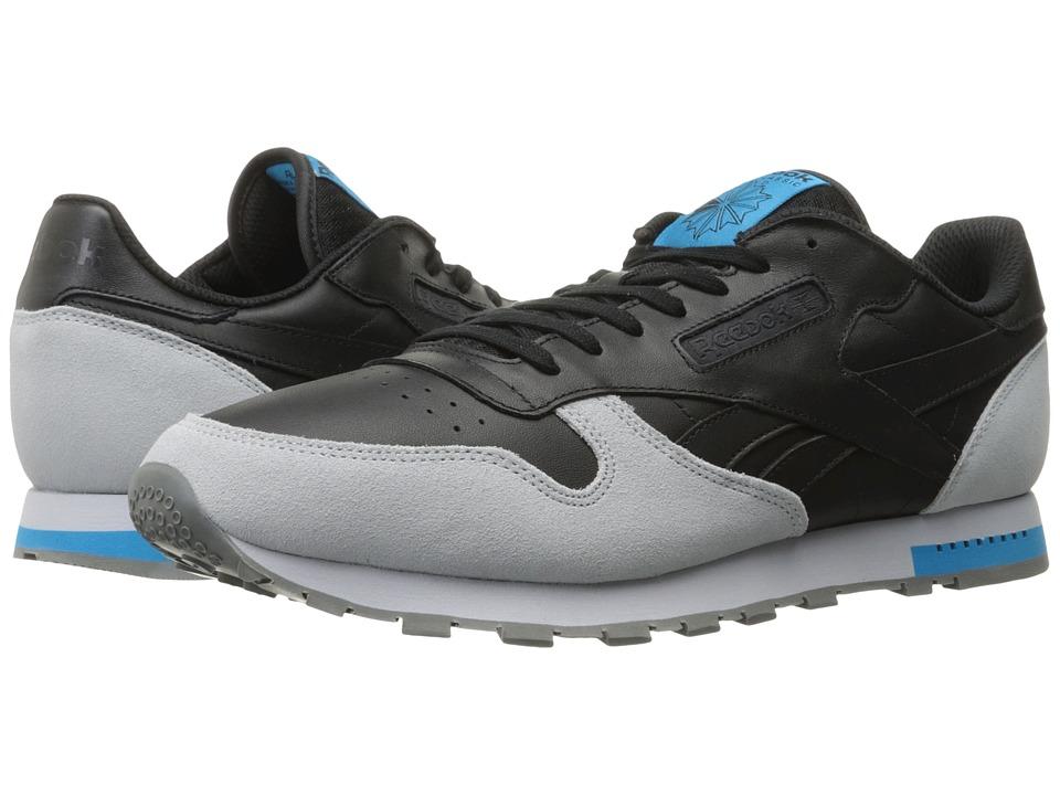 Reebok - Classic Leather (Black/Cloud Grey/Alloy/Carribean Sail) Men's Classic Shoes
