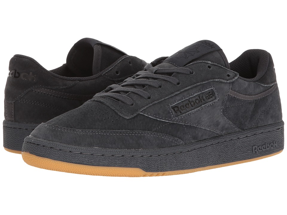 Reebok Lifestyle - Club C 85 TG (Lead/Black/Gum) Men's Shoes