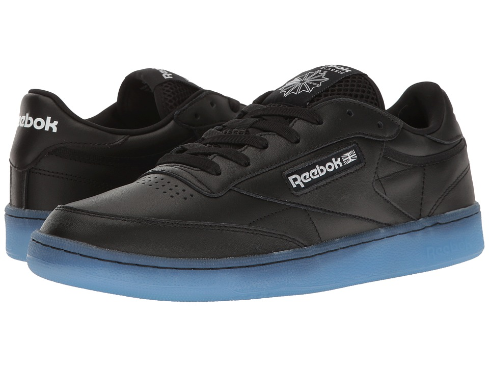 Reebok Lifestyle - Club C 85 Ice (Black/White/Ice) Men's Shoes