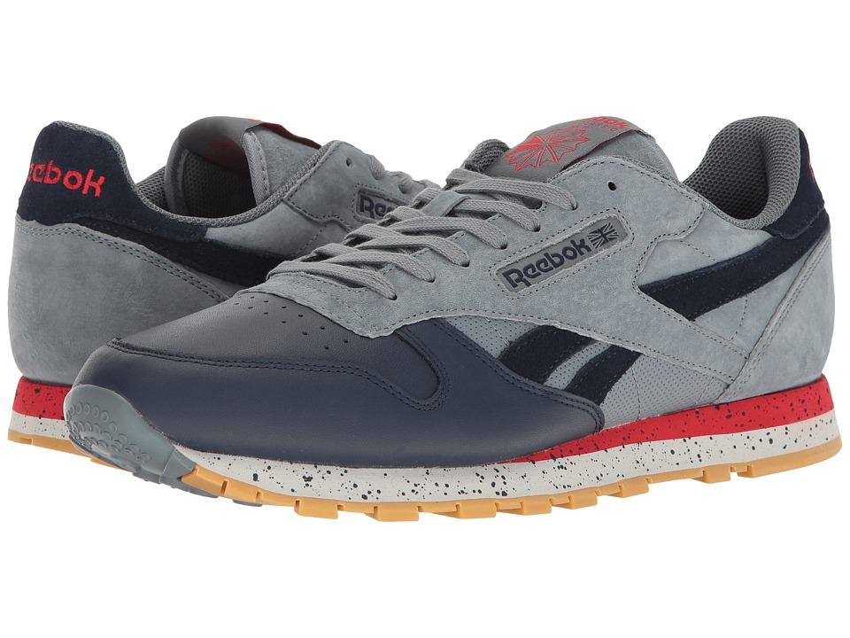 Reebok Lifestyle - Classic Leather SM (Asteroid Dust/Collegiate Navy/Primal Red/Skull Grey/Gum) Men's Shoes