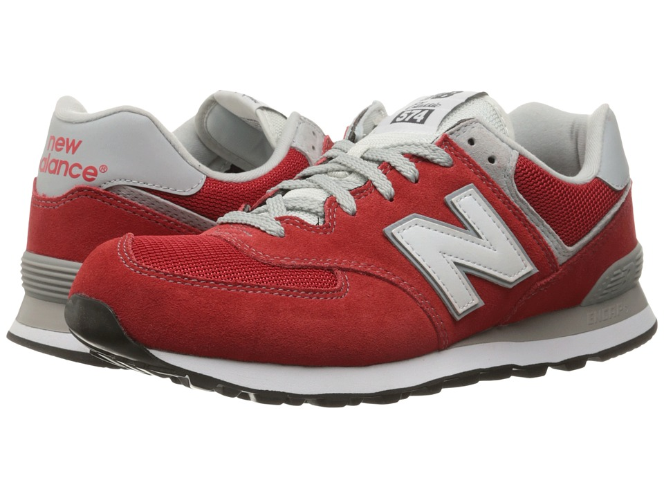 New Balance - ML574 (Red/Red) Men's Shoes