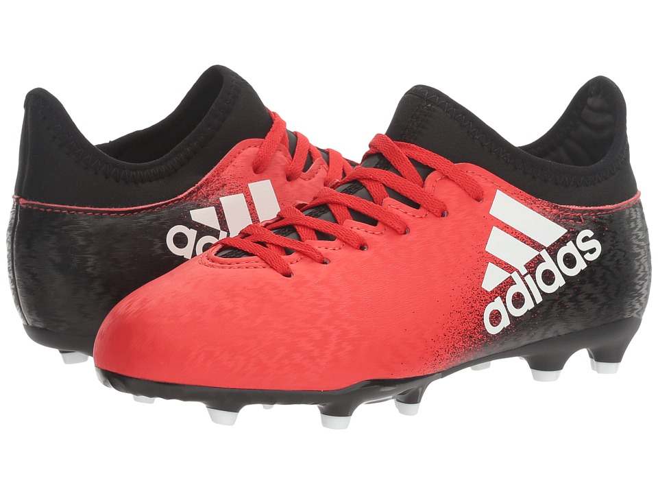 adidas Kids - X 16.3 FG Soccer (Little Kid/Bid Kid) (Red/White/Black) Kids Shoes