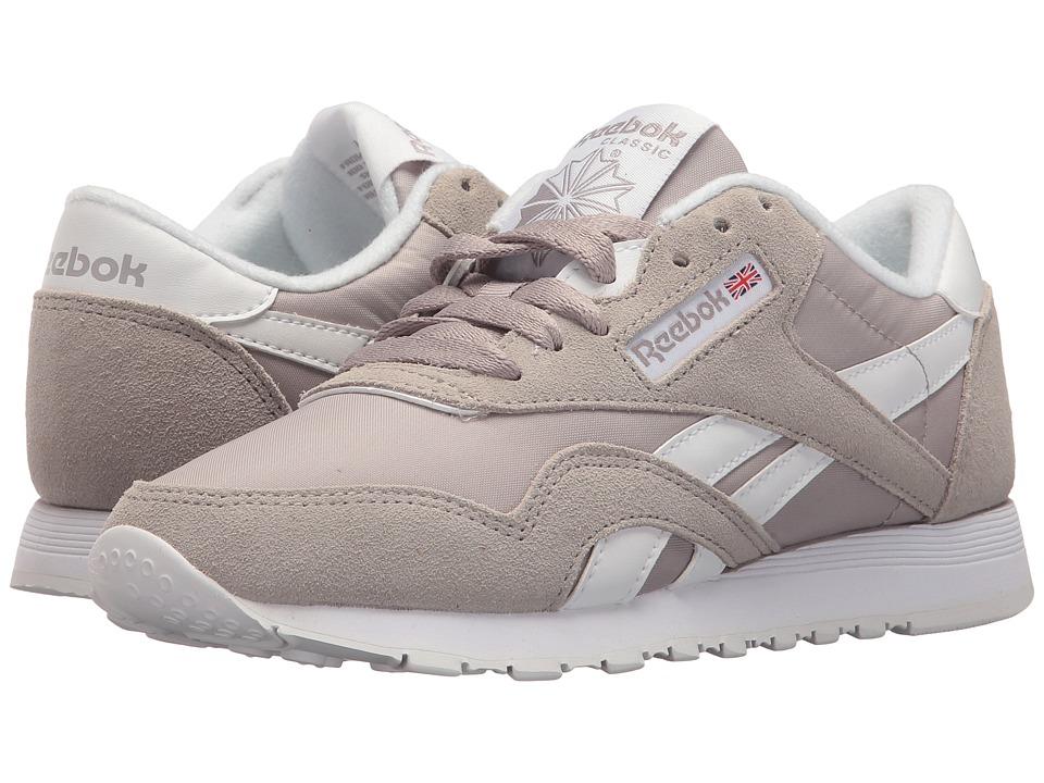 Reebok Lifestyle - Classic Nylon (Whisper Grey/White) Men's Classic Shoes