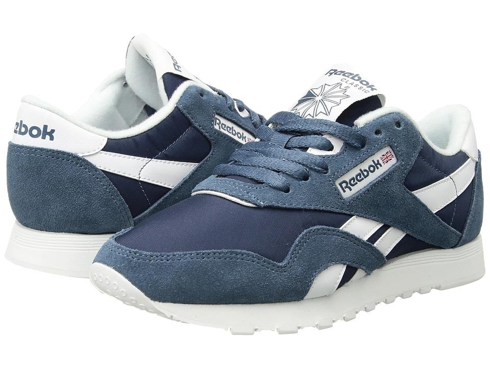 Reebok - Classic Nylon (Brave Blue/White) Men's Classic Shoes