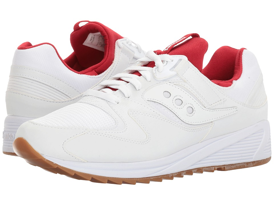 Saucony Originals - Grid 8500 (White/Red) Men's Classic Shoes