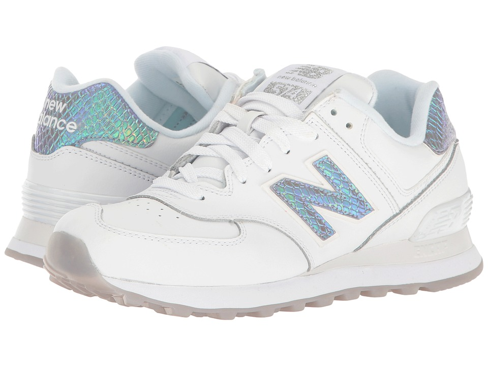 New Balance Classics - WL574v1 (White/Silver) Women's Running Shoes