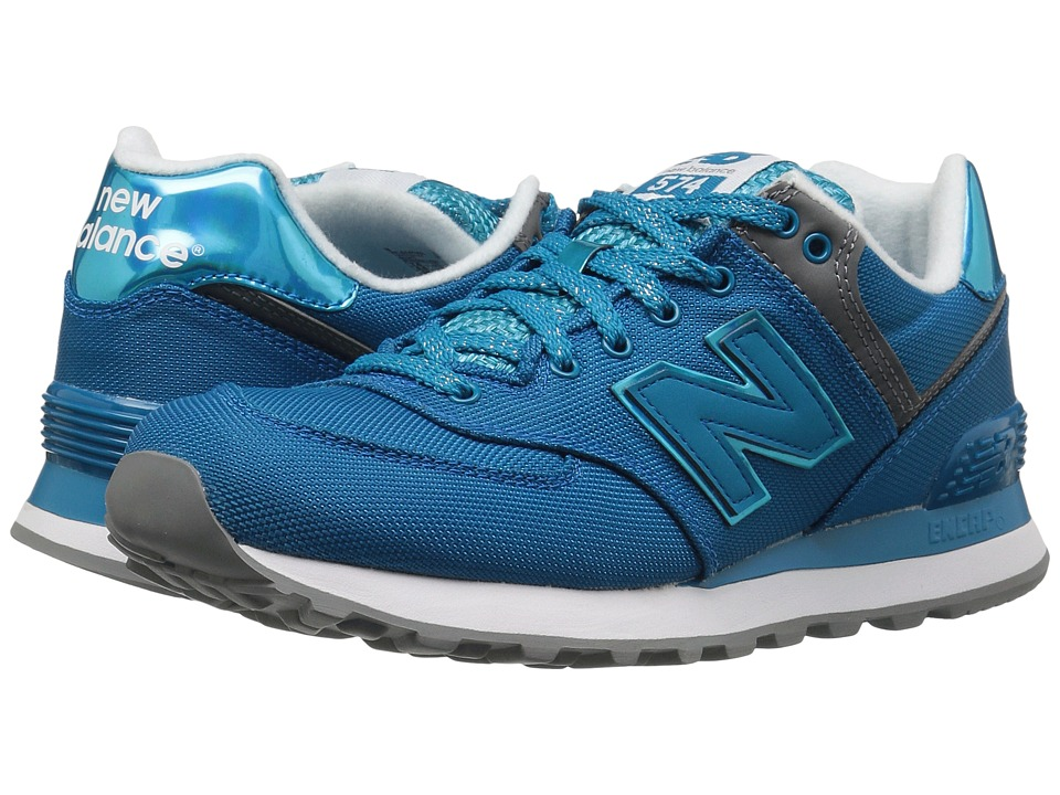 New Balance - WL574v1 (Vivid Ozone Blue/Vivid Ozone Blue) Women's Running Shoes