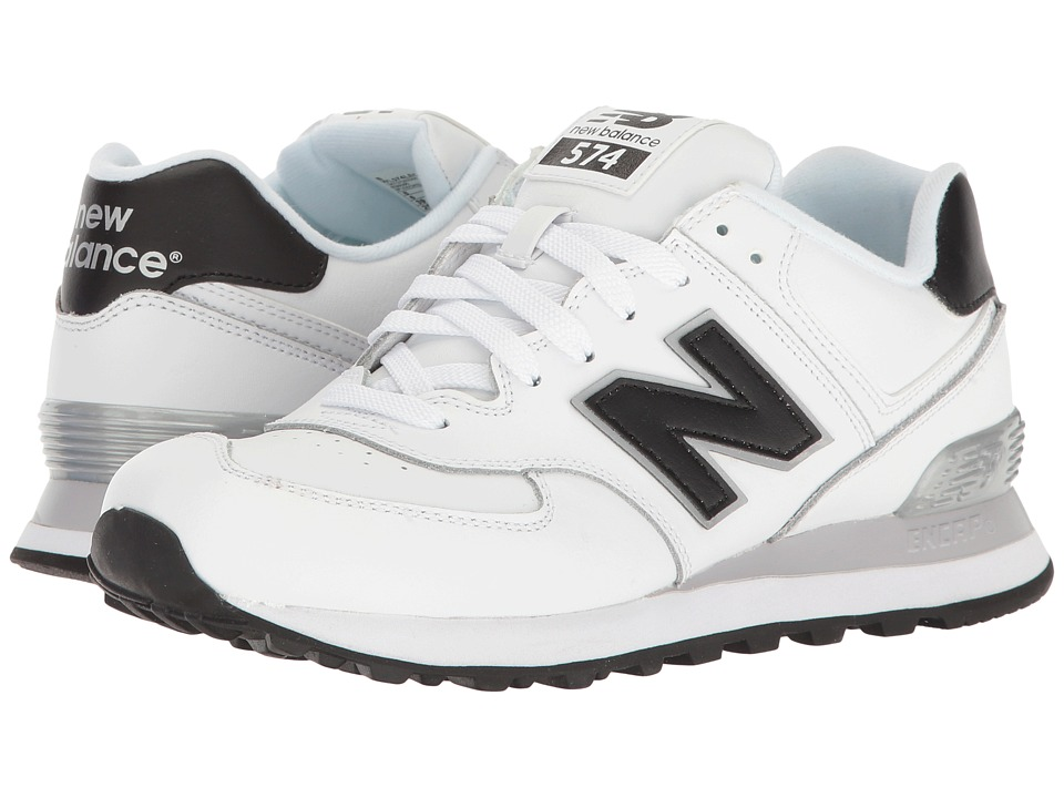 New Balance Classics - WL574v1 (White/Black) Women's Running Shoes