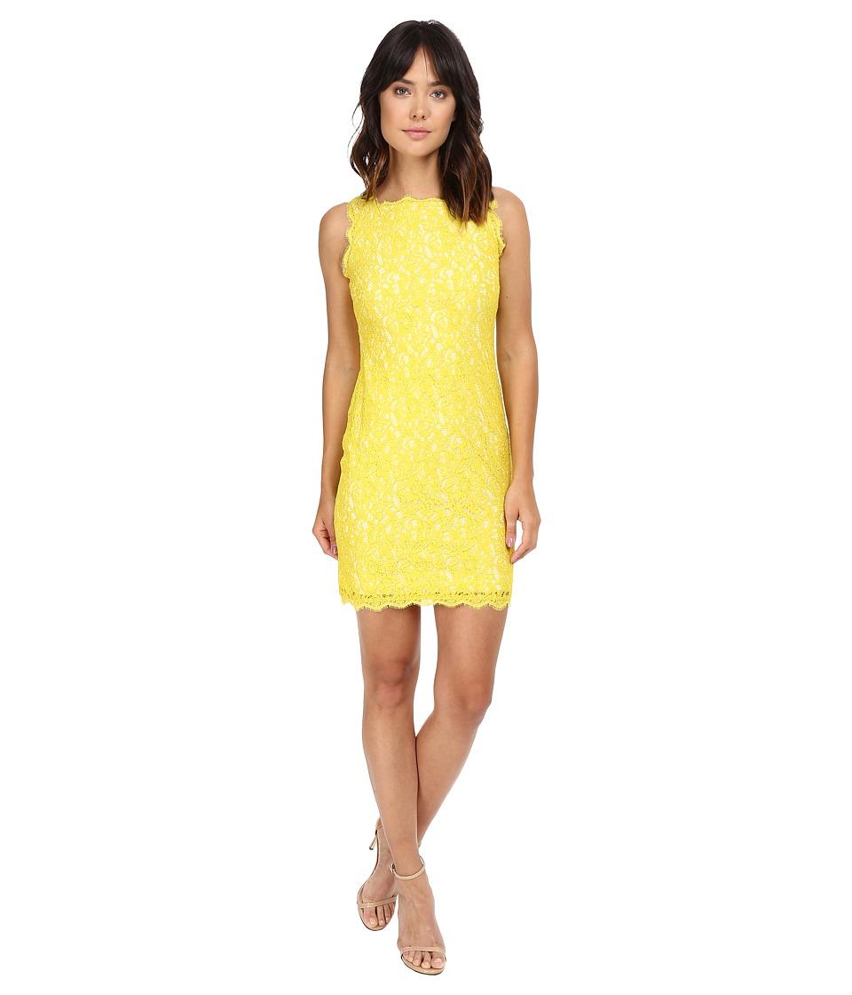 Adrianna Papell - Sleeveless Dress (Citrus/Ivory) Women's Dress