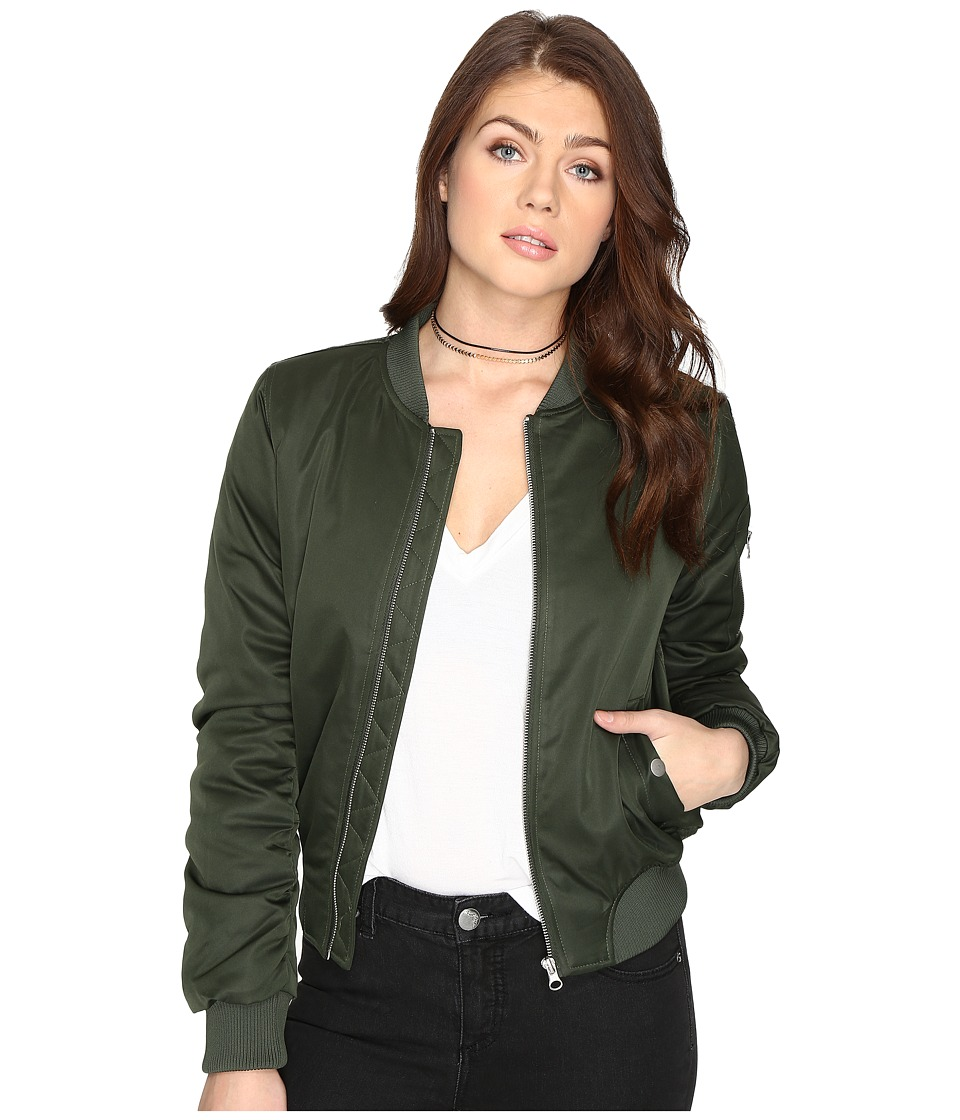 BB Dakota - Atwood Bomber Jacket (Army Green) Women's Coat