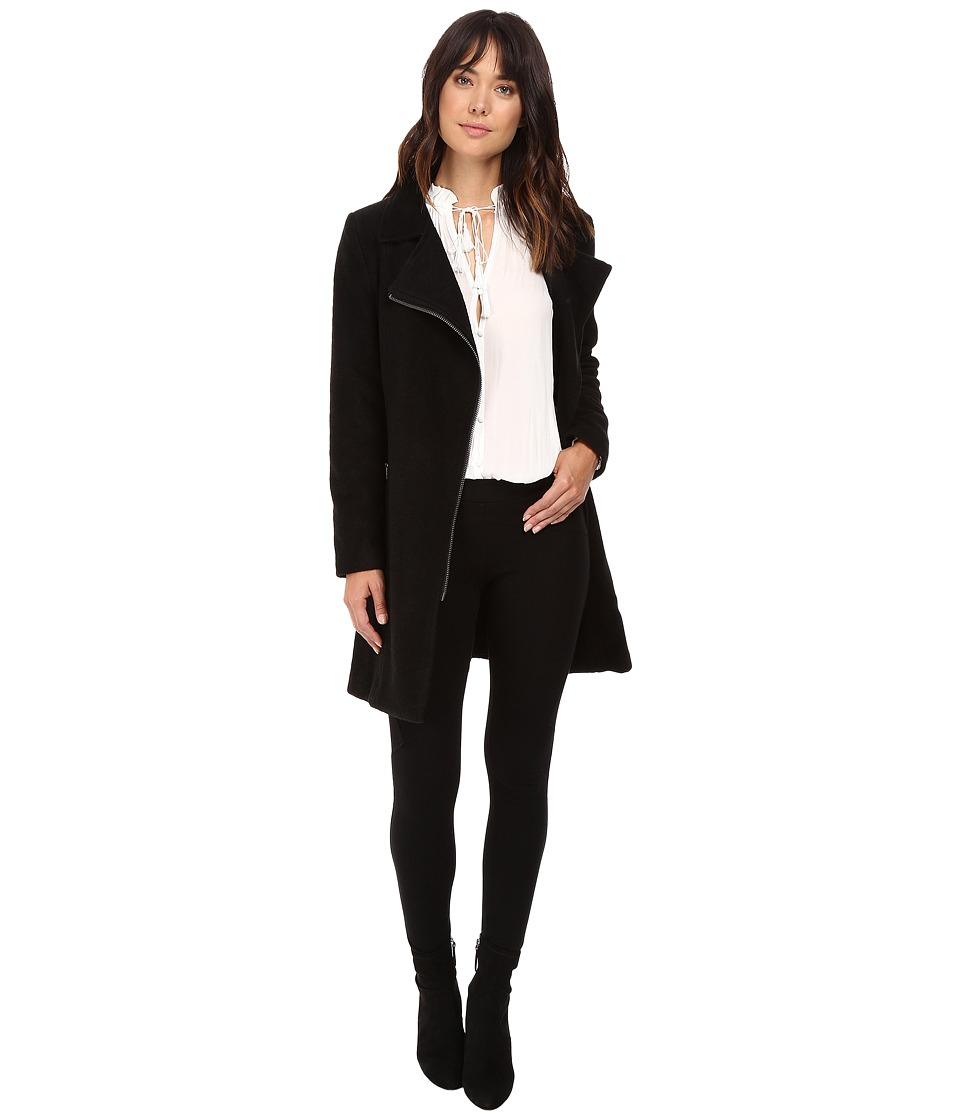 BB Dakota - Forsyth Boiled Wool Coat (Black) Women's Coat