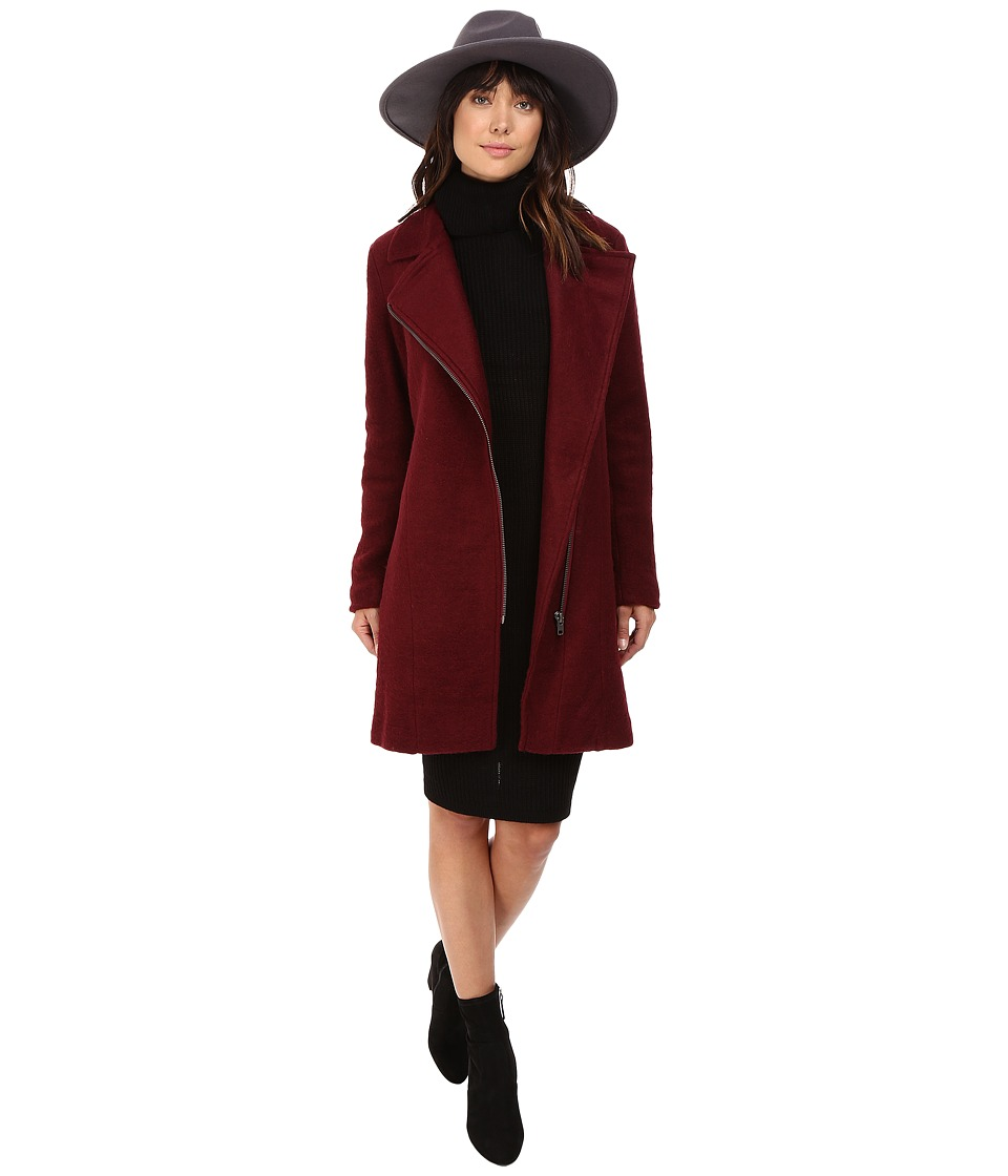 BB Dakota - Forsyth Boiled Wool Coat (Bordeaux) Women's Coat