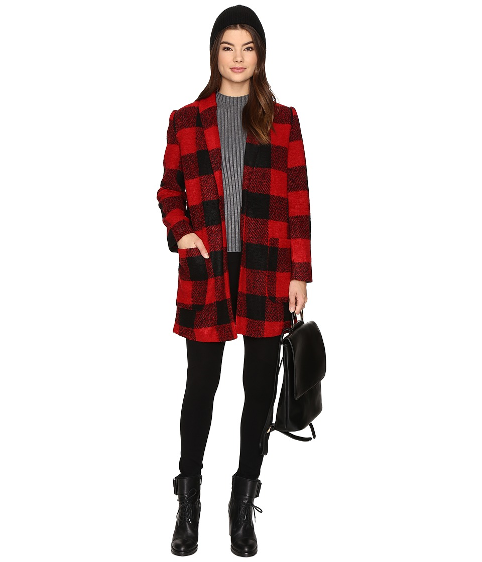 BB Dakota - Holton Plaid Coat (Red) Women's Coat