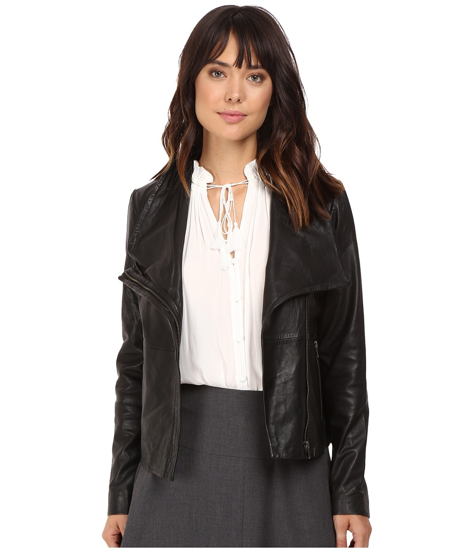 BB Dakota - Newell Washer Leather Jacket (Black) Women's Coat