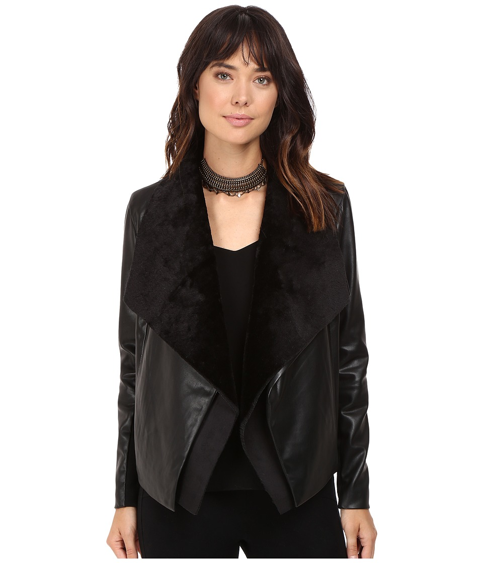BB Dakota - James Removable Drape Jacket (Black) Women's Coat