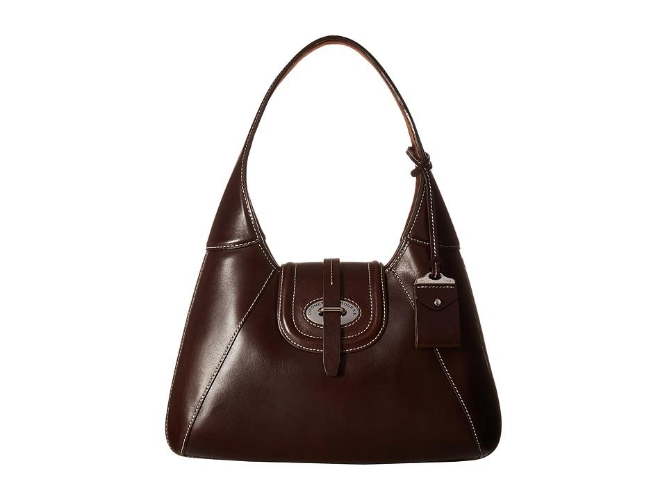Dooney & Bourke - Florentine Front Stitch Hobo (Espresso/Self Trim) Hobo Handbags