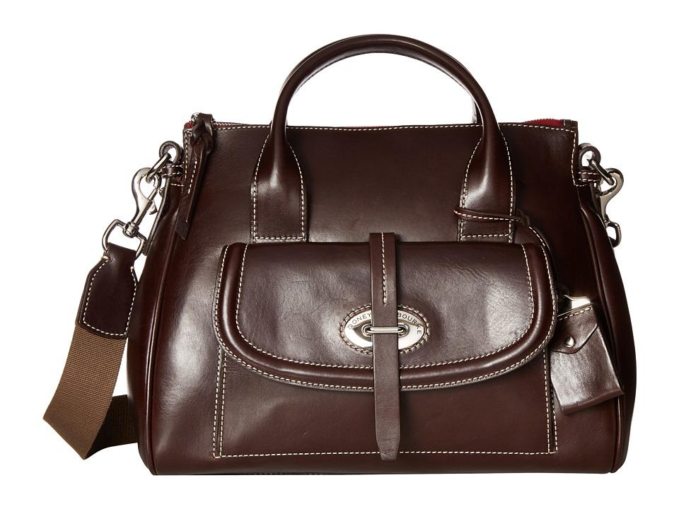 Dooney & Bourke - Florentine Front Pocket Satchel (Espresso/Self Trim) Satchel Handbags