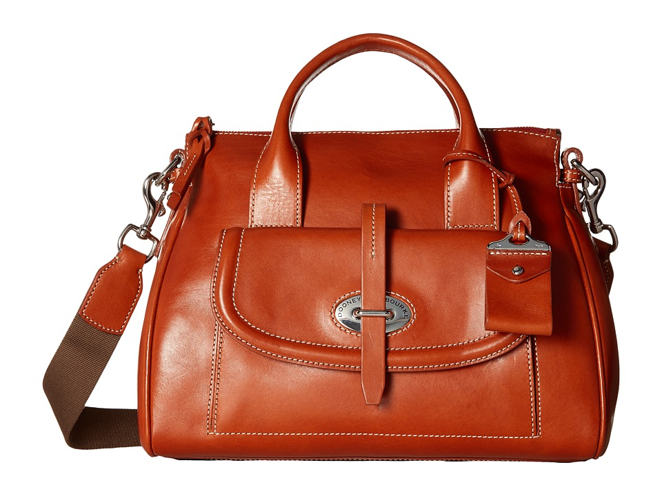 Dooney & Bourke - Florentine Front Pocket Satchel (Ginger/Self Trim) Satchel Handbags