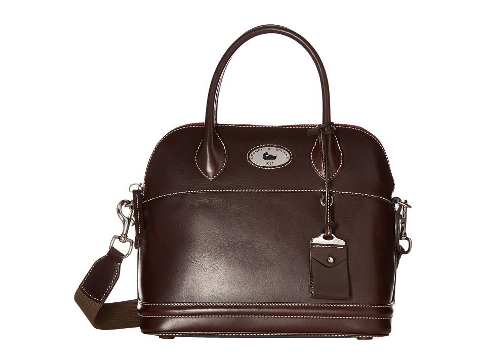 Dooney & Bourke - Florentine Domed Satchel (Espresso/Self Trim) Satchel Handbags