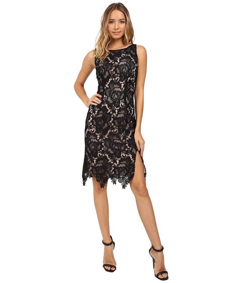 BB Dakota - Bristow Contast Lace Dress (Black) Women's Dress