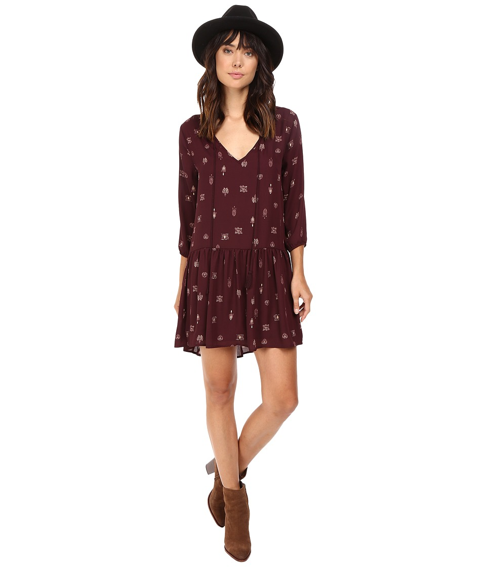 BB Dakota Camley Printed Dress (Boysenberry) Women