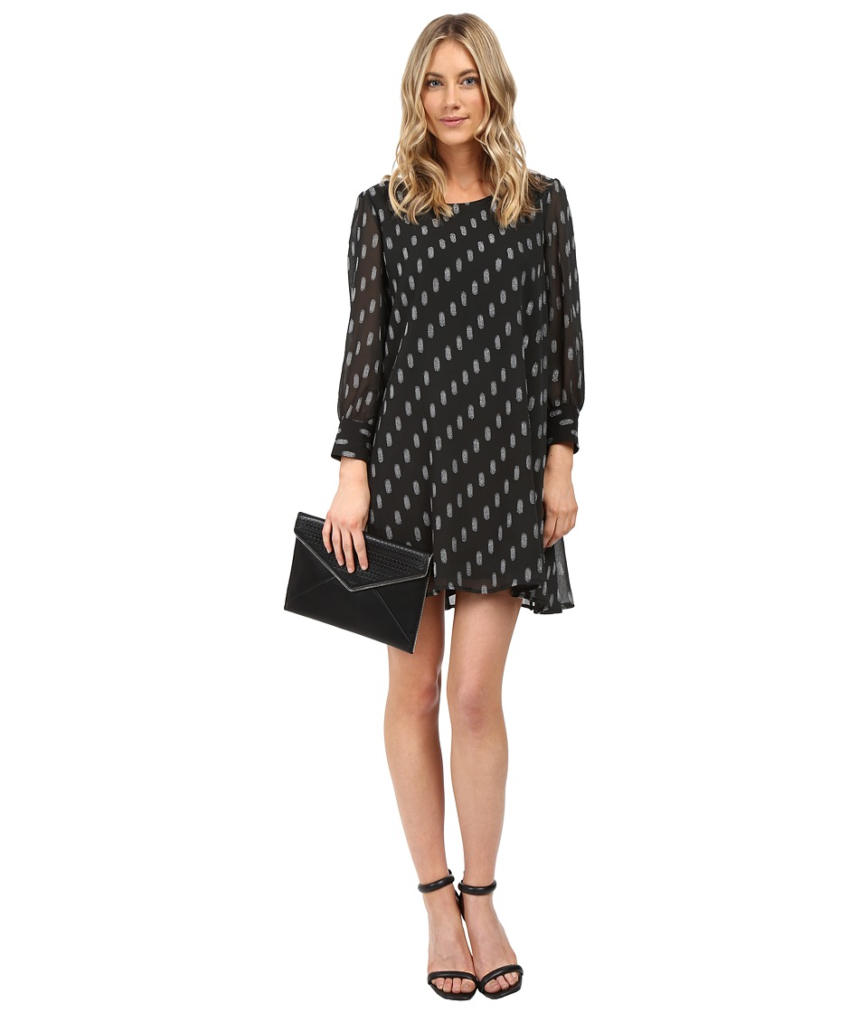 BB Dakota - Warren Printed Dress (Black) Women's Dress