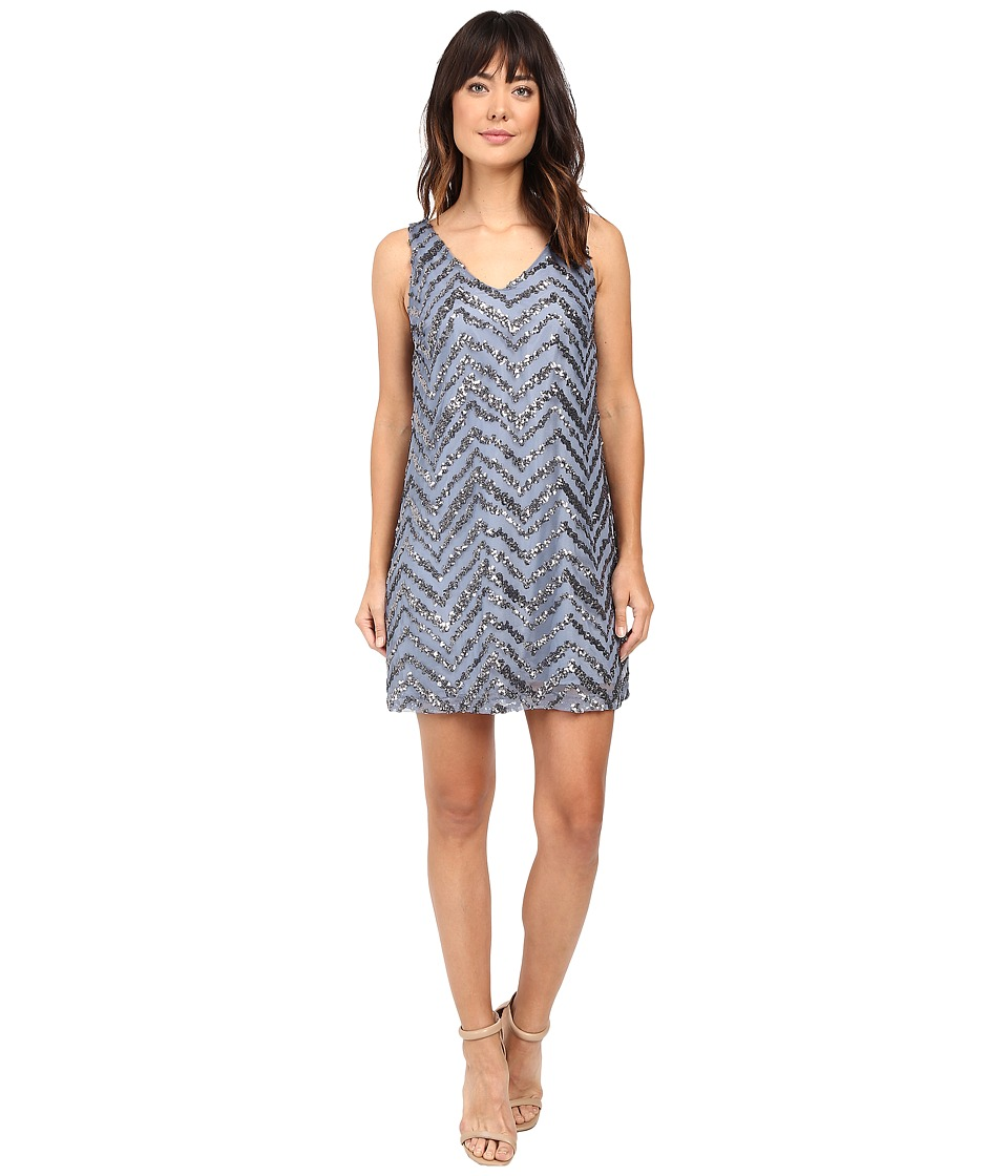 BB Dakota Mayfair Chevron Sequin Dress (Ice) Women