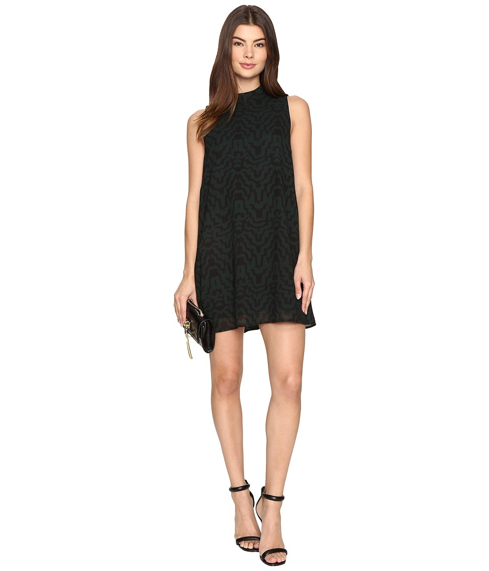 BB Dakota - Adderley Printed Shift Dress (Hunter Green) Women's Dress