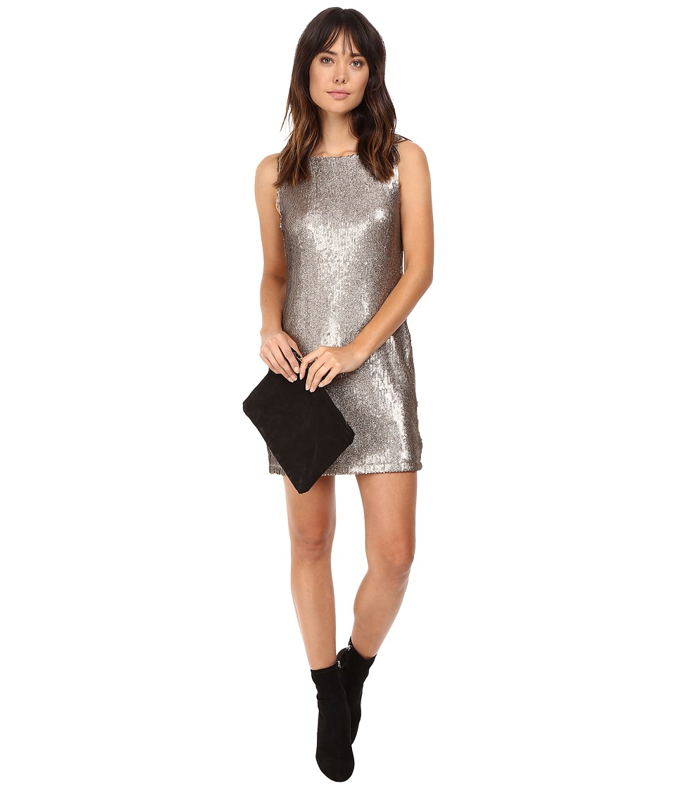 BB Dakota Penley Sequin Shift Dress (Gold) Women
