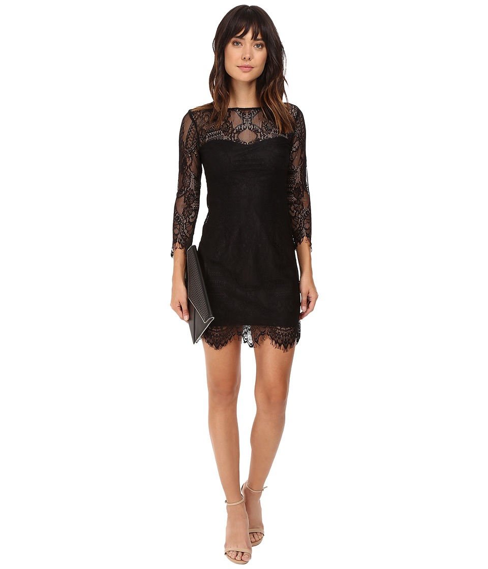 BB Dakota Everton V-Back Lace Dress (Black) Women