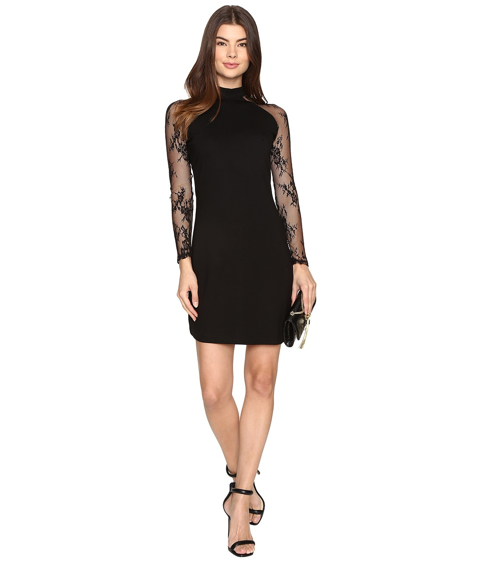 BB Dakota - Wells Lace Sleeve Dress (Black) Women's Dress