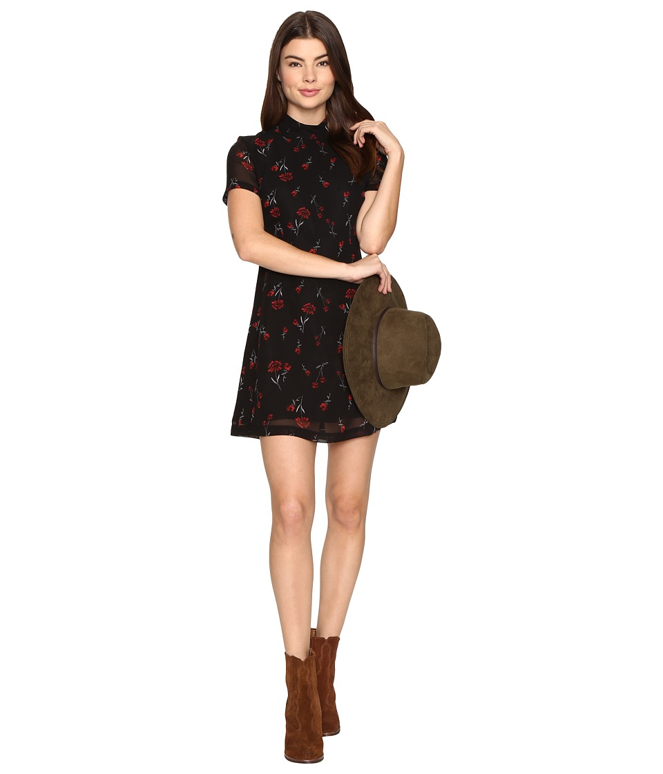 BB Dakota - Benhill Printed Dress (Black) Women's Dress