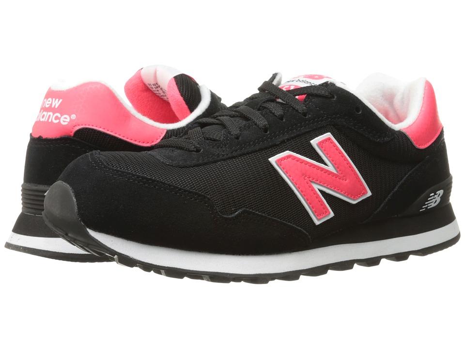 New Balance Classics - WL515 (Black/Bright Cherry 1) Women's Classic Shoes