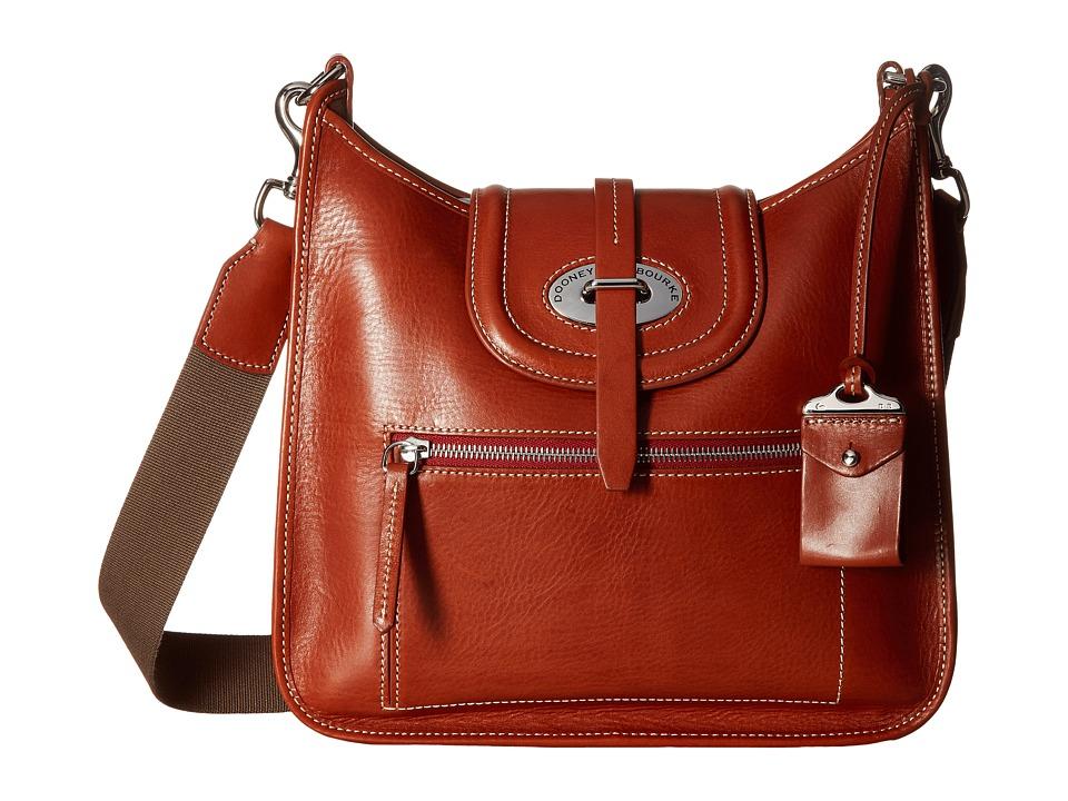 Dooney & Bourke - Florentine Front Zip Crossbody (Ginger/Self Trim) Cross Body Handbags