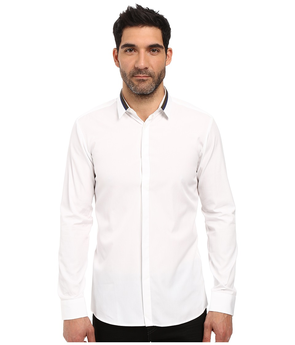 HUGO - Ewid Contrast Collar (White) Men's Clothing