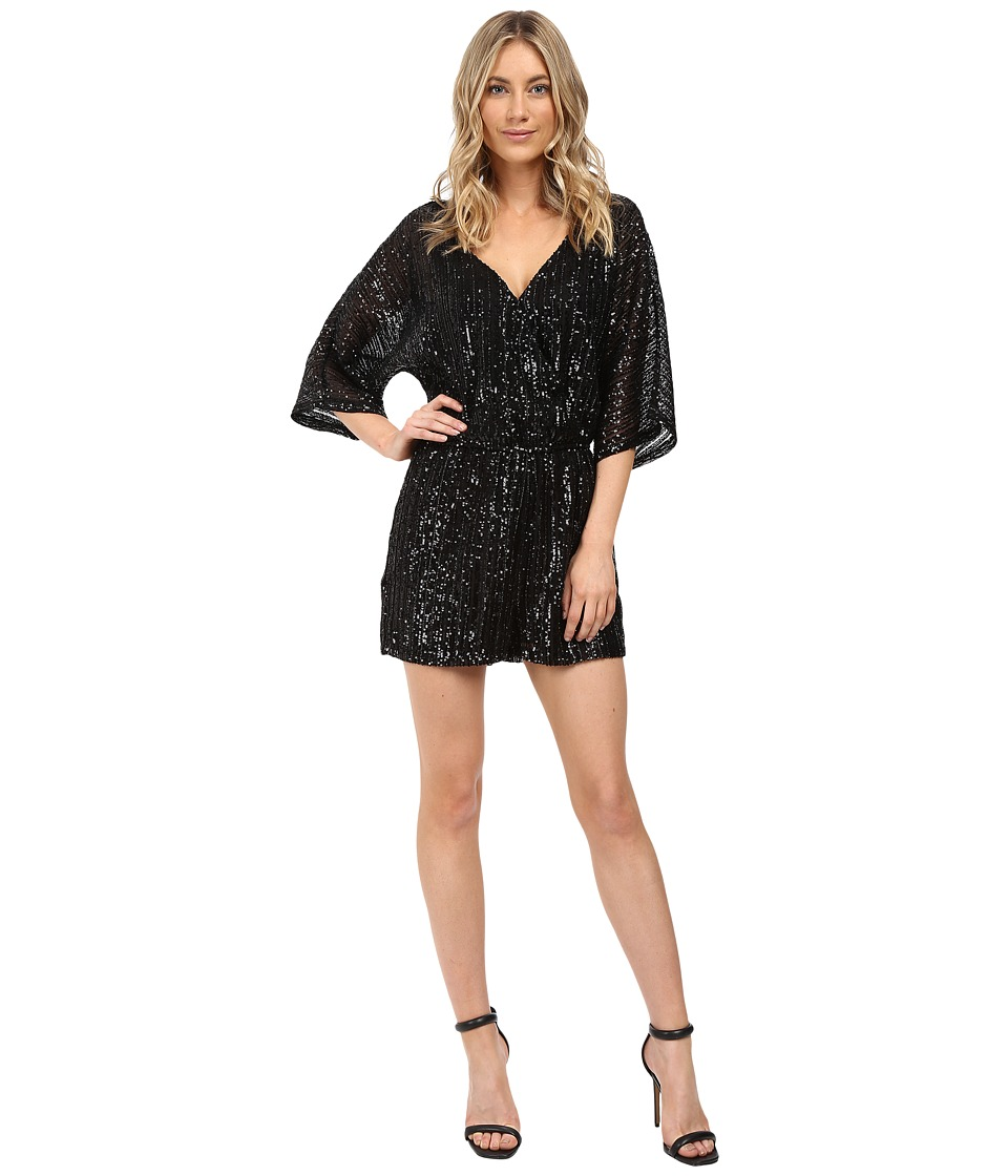 BB Dakota - Clare Sequin Romper (Black) Women's Jumpsuit & Rompers One Piece