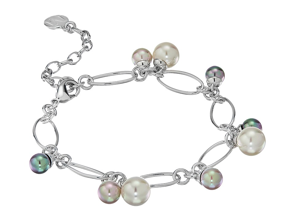 Majorica - Modern Metal Silver Link Charm Bracelet (Multi) Bracelet