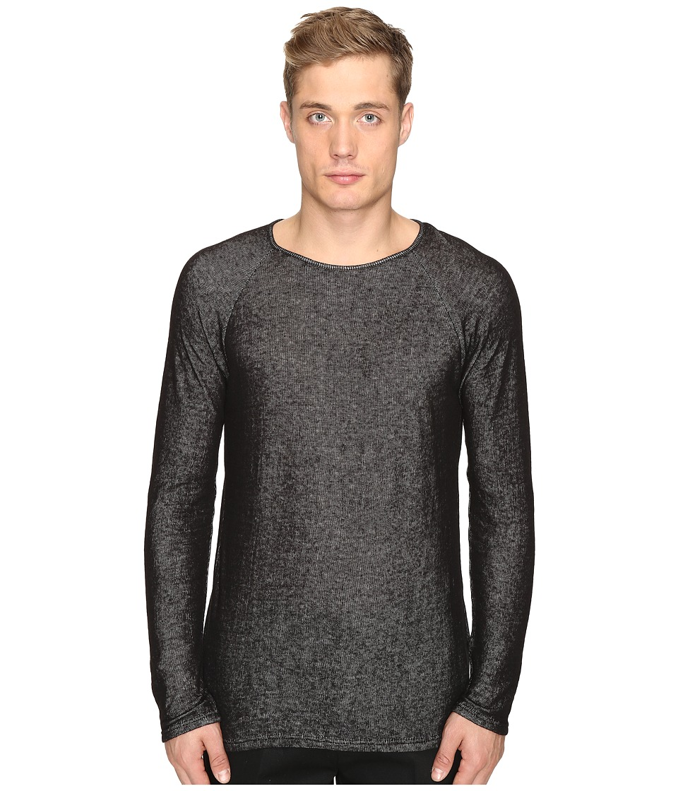 Matiere - Jacobson Japanese Double-Knit Long Sleeve Tee (Jet Black) Men's T Shirt