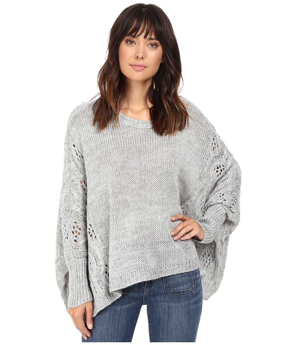 BB Dakota - Harrow Cropped Cable Sweater (Light Heather Grey) Women's Sweater